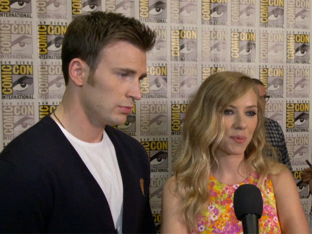 Chris Evans And Scarlett Johansson Express Their Excitement For 'Captain America: The Winter Soldier' At Comic-Con