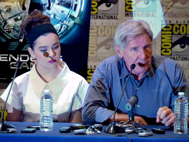 Harrison Ford And Asa Butterfield Talk Graff And Ender In 'Ender's Game' Comic-Con Press Conference - Part 1