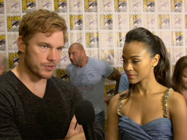 Chris Pratt And Zoe Saldana Discuss 'Guardians of the Galaxy' Screening And Sets At Comic-Con