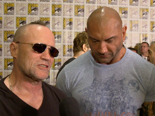 Michael Rooker and Dave Bautista From 'Guardians of the Galaxy' Are Loving Comic-Con 2013