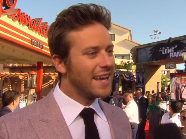 Armie Hammer Says He Thinks The Lone Ranger Will Always Be Clayton Moore At Movie's Premiere