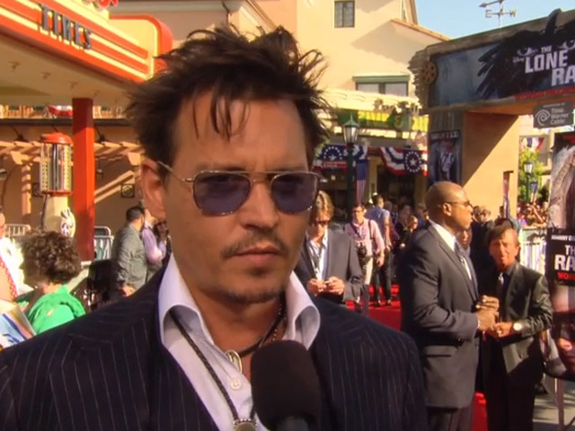 Johnny Depp Praises Verbinski And Bruckheimer At The World Premiere Of 'The Lone Ranger'