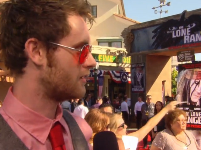 Matt O'Leary Gets Excited At The World Premiere Of 'The Lone Ranger'
