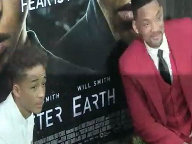 'After Earth' Stars Will Smith And Jaden Smith Snapped At The NY Premiere - Part 3