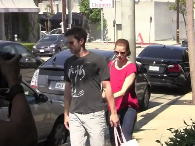 Amy Adams Spotted Shopping In LA With Fiance Darren Le Gallo