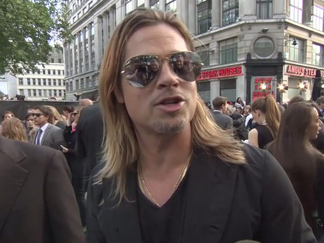 Brad Pitt Talks Worldwide Pandemics And Muse In Red Carpet Interview For 'World War Z'