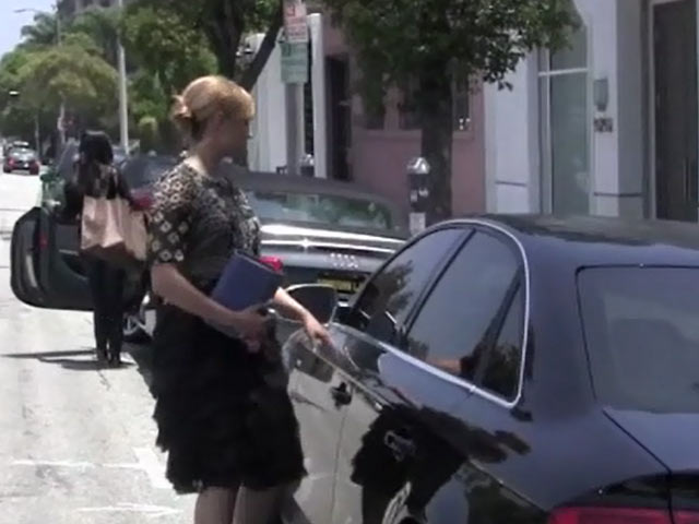 Dianna Agron Manages To Avoid A Parking Ticket As She Walks To Her Car In Beverly Hills