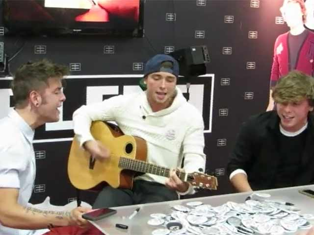 Emblem3 Sing 'One Day' For Fans At 2013 Licensing Expo In Las Vegas