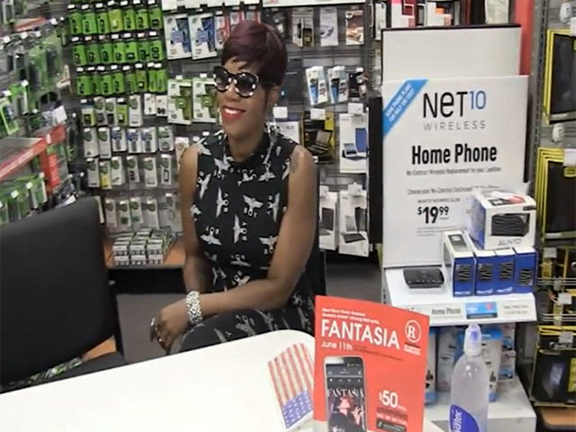 Fantasia Arrives For A Signing Of Her New Album Alongside A Press Photo Session