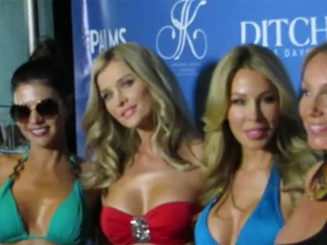 Joanna Krupa Launches Swimwear In Vegas During Bachelorette Party