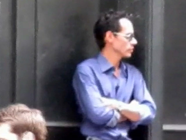 Marc Anthony Is Seen On The Set Of A Brand New Video