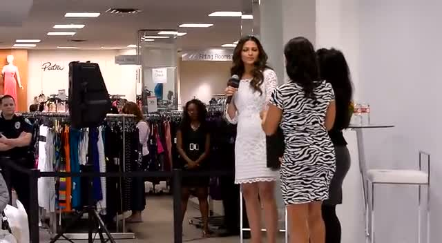 Camila Alves Gleams In Elegant White Number At Macy's Aventura Mall