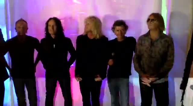 Def Leppard Introduced At Hard Rock Where They Receive Their Own Display