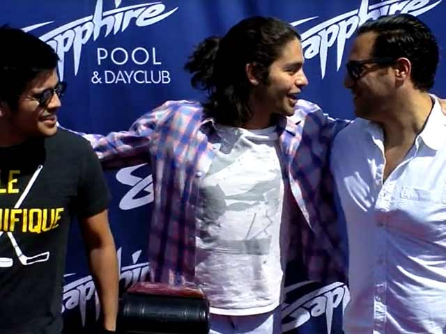 Adrian Grenier Hangs Out With Friends At The Sapphire Pool Opening In Vegas