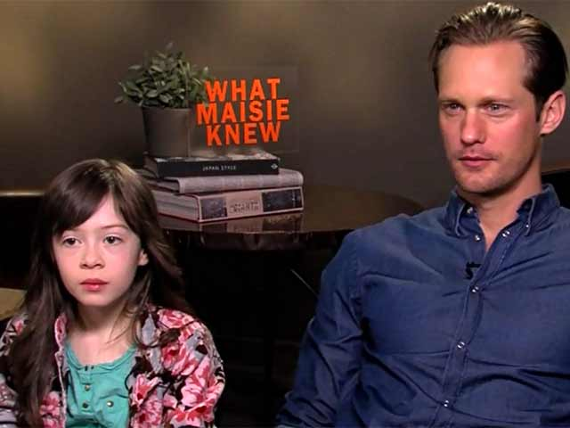 Alexander Skarsgard And Onata Aprile Talk Bonding And Parenting In An Interview On Their New Film 'What Maisie Knew'