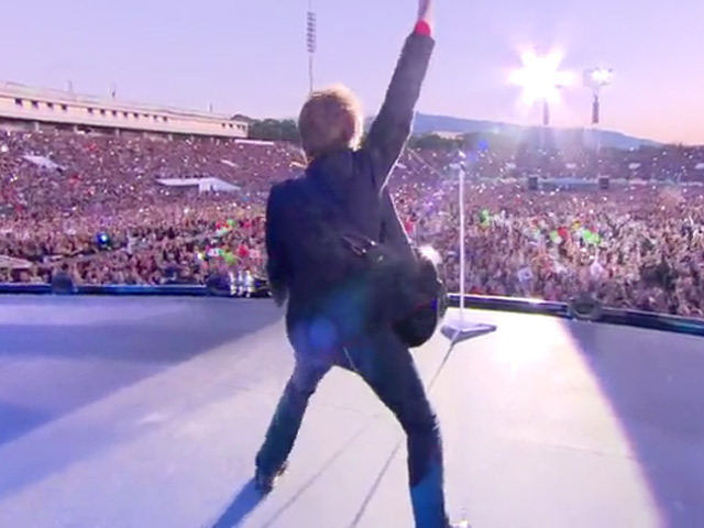 Bon Jovi Are Interviewed About Their Fans And Their Hits During The 'Because We Can Tour'
