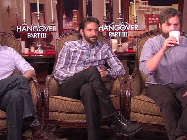 Ed Helms, Bradley Cooper And Zach Galifianakis Talk About Connecting With Each Other And Laughing On The Set Of 'The Hangover Part III'