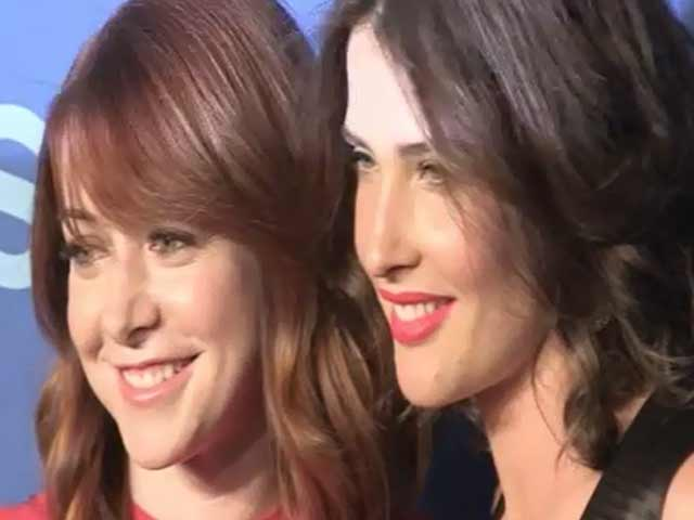 Cobie Smulders And Alyson Hannigan Arrive At CBS Upfront 2013 - Part 1