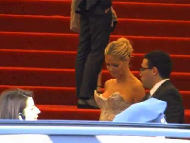 Heidi Klum Whiter Than White At Met Costume Gala 2013