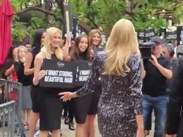 Heidi Klum Looks Glamorous As She Launches The 'Right End' Hair Revolution