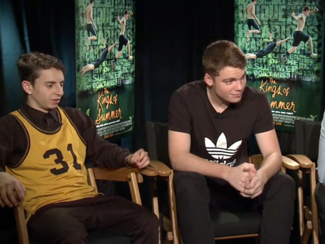 Gabriel Basso Describes 'The Kings of Summer' As A 'Pubescent Limbo' In An Interview Next To Co-stars Nick Robinson And Moises Arias - Part 1