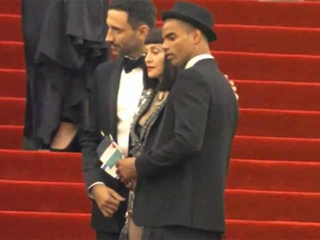 Madonna Leaves Little To The Imagination In Punk Get Up At Met Gala 2013