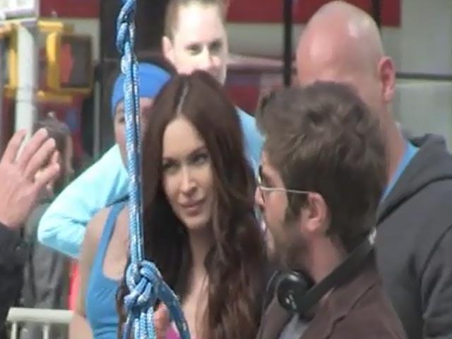 Megan Fox Goes Trampolining On The Set Of 'Teenage Mutant Ninja Turtles'