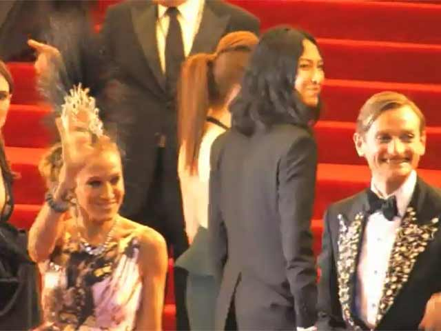 Sarah Jessica Parker Dons A Mohawk For Met Gala 2013