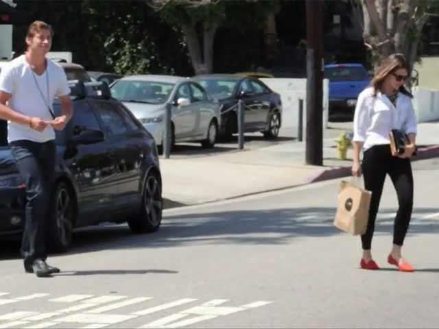 Sophia Bush Leaves A Salon With Her Beau Dan Fredinburg In LA