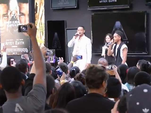 Will Smith Beatboxes For His Rapper Son Jaden At Miami Science Museum's 'After Earth' Day
