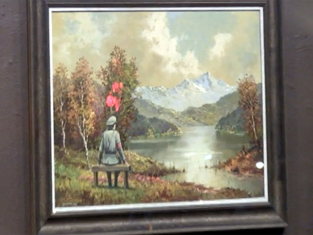 Banksy's 'The Banality Of The Banality Of Evil' Painting Unveiled At Housing Works Store