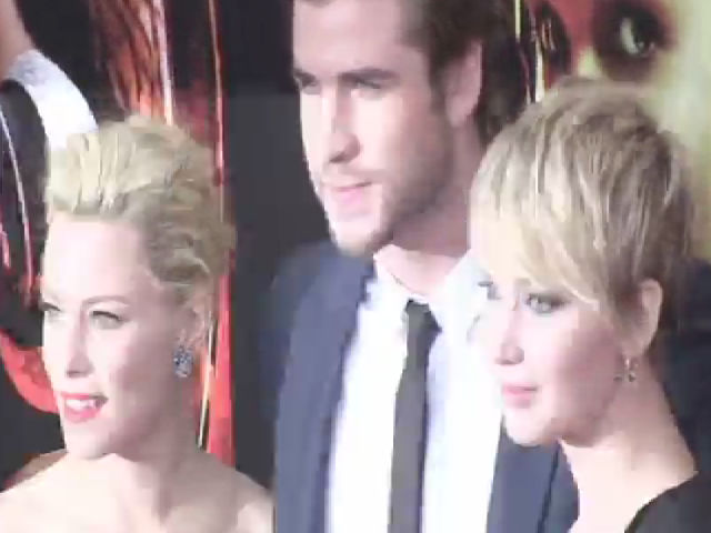Jennifer Lawrence And Liam Hemsworth At The 'Catching Fire' NY Premiere - Part 4