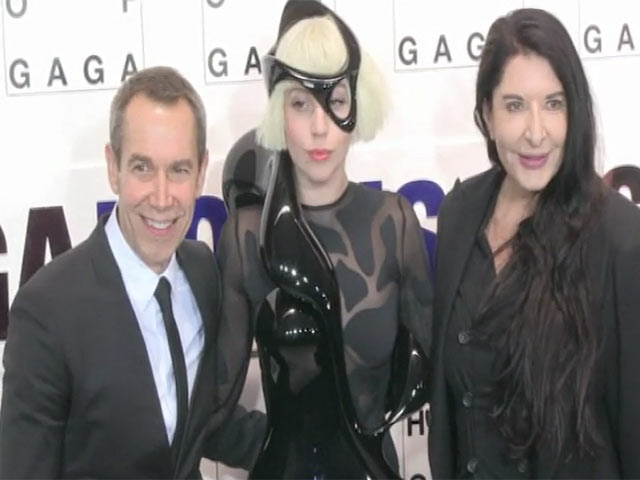 Lady Gaga Poses With Collaborators And Artists At 'Artpop' Release Party