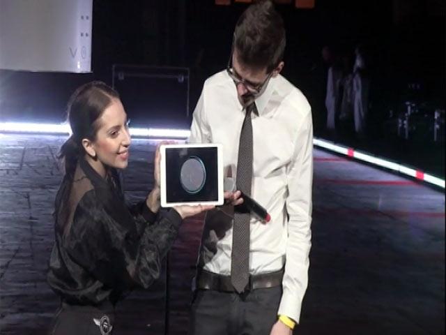 Lady Gaga Demonstrates Her New 'ARTPOP' App With Developer Max Weisel