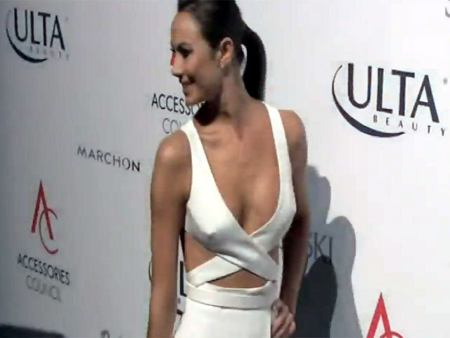 Stacy Keibler Dazzles In Risque White Dress At The ACE Awards - Part 2