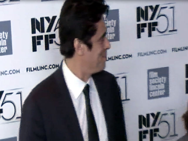 Benicio del Toro Arrives At 'Jimmy P' premiere At 2013 New York Film Festival