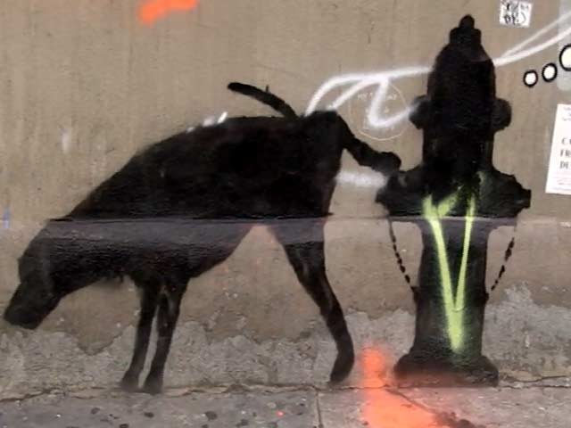 Cheeky Banksy Art In New York Seems To Be Partially Washed Away