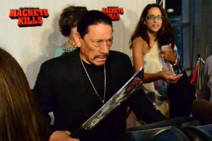 Danny Trejo Gets Into Character At 'Machete Kills' Miami Premiere - Part 2