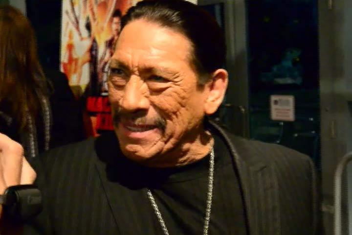 Danny Trejo Talks To A Fan At The Premiere Of 'Machete Kills' In Miami - Part 1