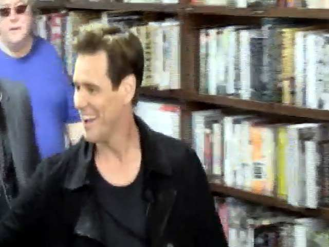 Jim Carrey Prepares For A Book Reading Of His Kid's Story 'How Roland Rolls' At Barnes And Noble