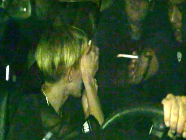 Miley Cyrus Talks With Smoking Friend On Arriving At The SNL Afterparty