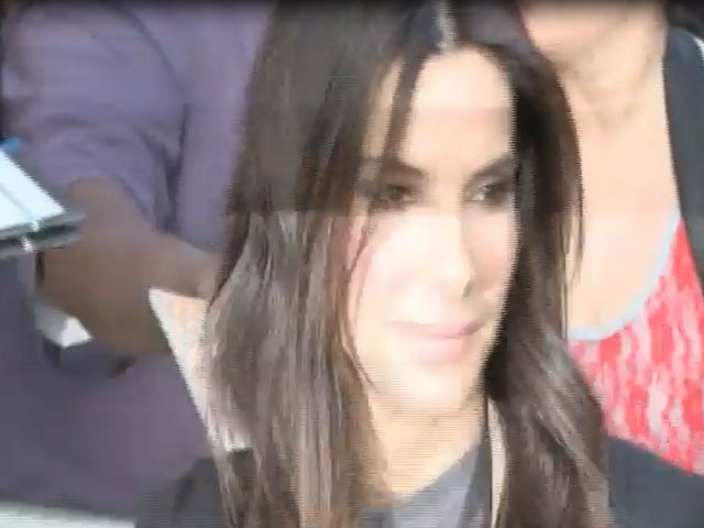 Sandra Bullock Is Spotted Arriving At 'The Daily Show With Jon Stewart'