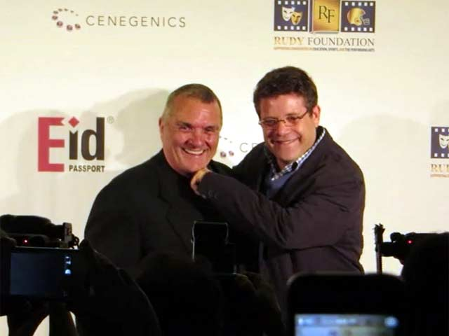 Sean Astin And Football Star Rudy Ruettiger Celebrate 20th Anniversary Of Biopic 'Rudy' In Vegas