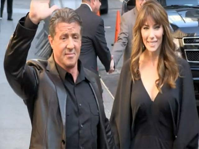 Sylvester Stallone Brings His Wife To His Appearance On 'Letterman'
