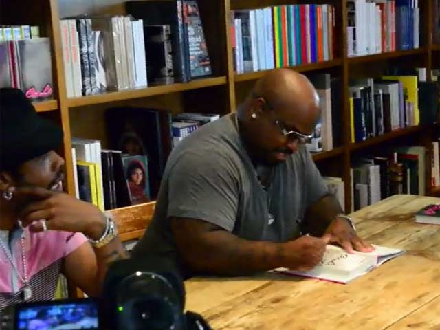 Cee Lo Green And Big Gipp Of Goodie Mob Greet Giggling Female Fans At Their Book Signing