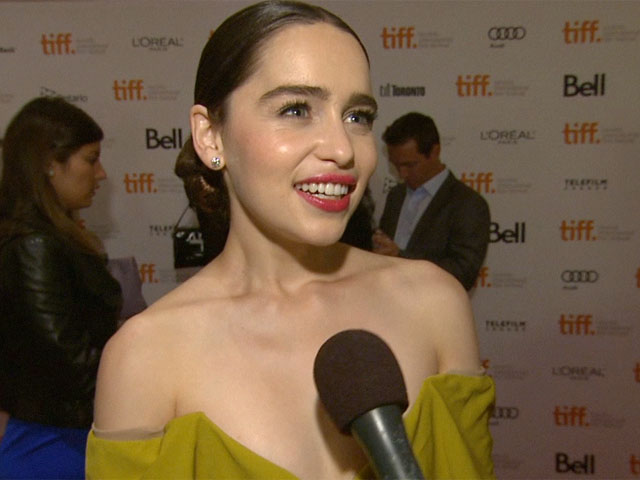 Emilia Clarke Talks About Her Character And Jude Law In 'Dom Hemingway' At Toronto International Film Festival