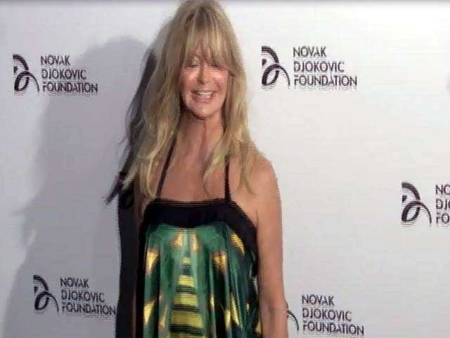 Goldie Hawn Spotted In Bright Gown At Novak Djokovic Foundation Benefit Dinner - Part 3