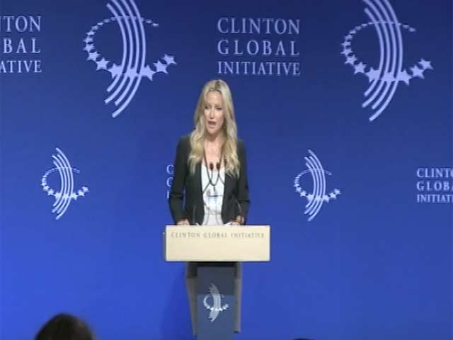 Kate Hudson Is Among Stars Speaking At The Clinton Global Initiative
