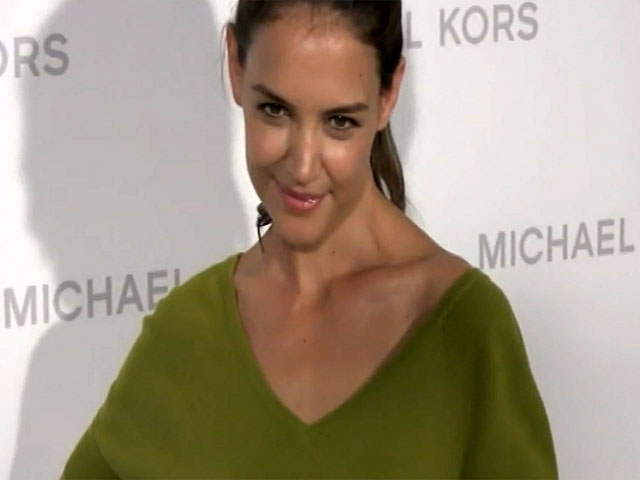 Katie Holmes Goes A Little Casual For The Michael Kors SS14 Show At NY Fashion Week