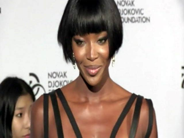 Naomi Campbell Wears Daring Black Number At Novak Djokovic Foundation Dinner - Part 2